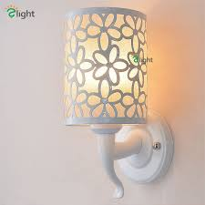big europe modern simple painted petal white iron led wall lamp flower iron shades wall lamp for bedroom corridor in led indoor wall lamps from