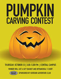 pumpkin carving contest flyer oac buena vista university