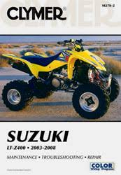 suzuki atv manuals diy repair manuals clymer suzuki ltz400 series atv 2003 2008 service repair manual