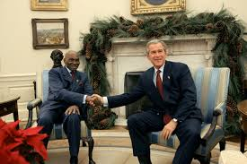 george bush oval office. President George W. Bush Meets With Abdoulaye Wade Of Senegal In  The Oval Office George Bush Oval Office I