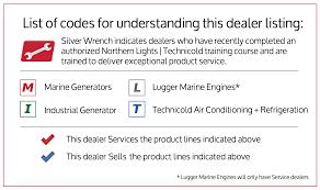 Peterson Lights Dealers Dealers Northern Lights Marine Generators And Technicold