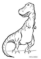 Disegni Di Dinosauri Da Stampare E Colorare Gratis Portale Bambini