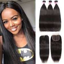 Bundle Hair Length Chart Unice Hair Icenu Series 3 Bundles Brazilian Virgin Hair Straight With Closure