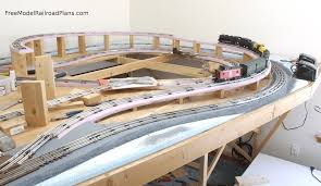 free model railroad plans layout figure 8 over under design