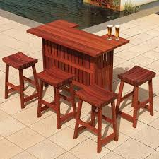 outdoor patio bar sets wooden