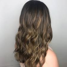 beach golden highlights dark brown hair with golden highlights