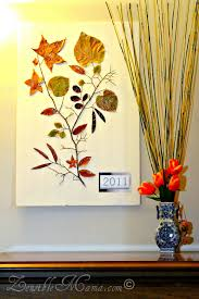 diy fall leaf and tree branch 3d wall art poster