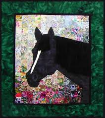 "Horse Quilt Pattern New Jenna's Horse"" Watercolor Quilt Kit Whims"