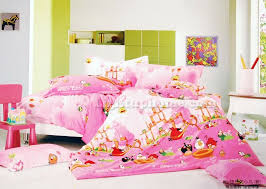 pink girls angry birds bedding quilt cover and sheet