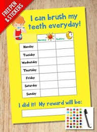 Childrens Sticker Chart Details About Tooth Teeth Brushing Reward Chart Kids Childrens Sticker Star Girls Boys