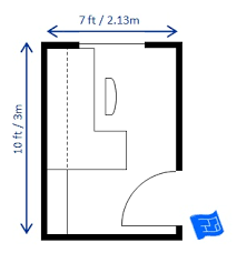 Home office floor plan Rectangle Home Office Floor Plan 7x10ft House Plans Helper Home Office Floor Plans