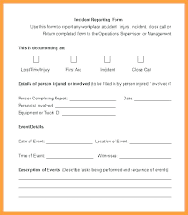 Incident Reporting Form Mesmerizing Incident Report Form Template