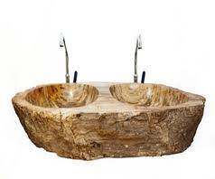 petrified wood sink. Contemporary Petrified Petrified Wood Becomes A Stunning Double Sink Centrepiece And Petrified Wood Sink 0