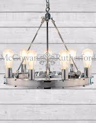 chrome round gallery chandelier