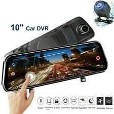 Автомобильный видеорегистратор-<b>зеркало</b> и <b>2</b>-<b>мя</b> камерами ...