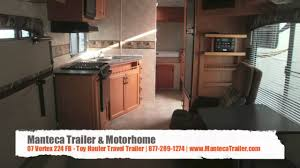 07 vortex 224 fb toy hauler travel trailer manteca trailer
