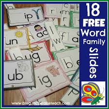 Word Families Template 18 Free Word Family Sliders