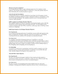 Designer Resume Objective Resume Job Resume Objective 22