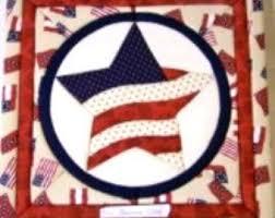 Patriotic quilt kit   Etsy & 225 Patriotic Star Quilt Magic Kit Adamdwight.com