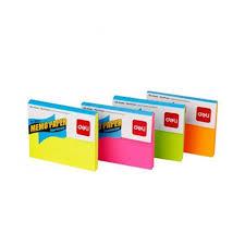 Deli E39820 Sticky Notes 3x4 Flourescent Color Assorted