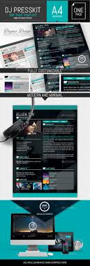 vice dj musician onepage resume indesign template by dogmadesign vice dj musician onepage resume indesign template resumes stationery