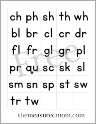 Free Printable Letter Tiles For Digraphs Blends And Word