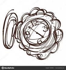 часы карманные эскиз фея карманные часы черно белый контур эскиза