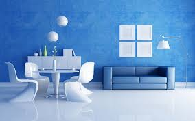 living room futuristic blue living room design ideas with white marble floor and blue painted wall also minimalist blue sofa and white dining sets cool blue couches living rooms minimalist