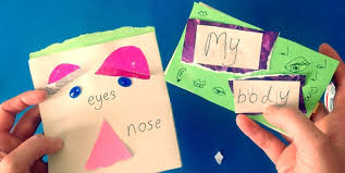 children s book making craft my body face parts arts activity kindergarten you
