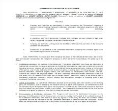 Contractor Non Compete Agreement Template 9 Templates Free Sample ...