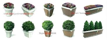 planters and pots outdoor planter decorative square plastic flower large plant