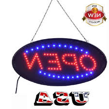 Ultra Bright <b>LED Neon Light</b> Animated Motion W/ ON/OFF OPEN ...