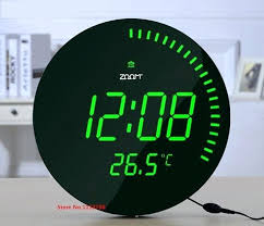 led digital wall clock creative large modern design home decor decoration big decorative watch blue green
