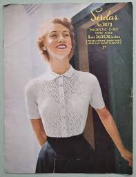 Vintage Knitting Patterns New Womens Sweater Knitting Patterns Vintage Knitting Pattern 48s