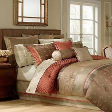 rust colored comforter sets. fine comforter waterford bogden king comforter multi rustolivetan on rust colored sets o