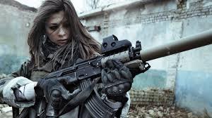 Girl with gun wallpaper