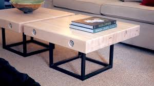 Apr 11 Modern Maple And Steel Coffee Table Part 2 | How To Build