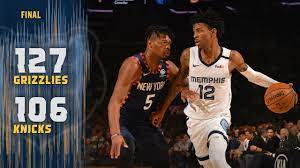 Memphis Grizzlies vs New York Knicks ...