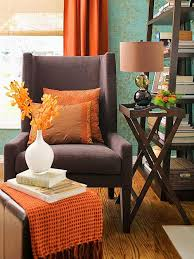 Orange And Brown Home Decor  Davidbromstadmodernhomedecornoplacelikehomeroomwith .