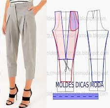 Pattern Pants Simple MOLDE DE CALÇAS Sewingpatterns Pinterest Patterned Pants