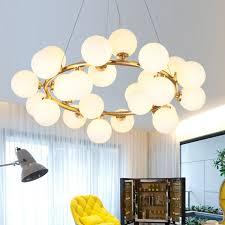 modern round glass ball pendant lights