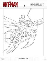 Small Picture Free Ant Man Printable Coloring Sheets Games AntMan