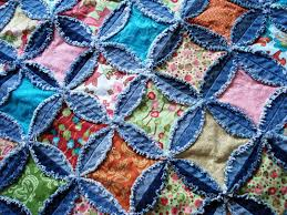 Denim rag quilt - this is another quilt-as-you-go project. Love it ... & Denim rag quilt - this is another quilt-as-you-go project. Adamdwight.com