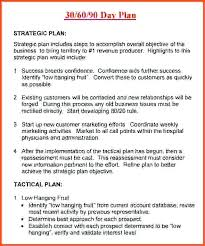 30 60 90 Day Business Plan Template For Interview Action 6 Free Word