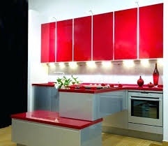 red kitchen countertops red kitchen and modern kitchen cabinets in red color red quartz kitchen worktops