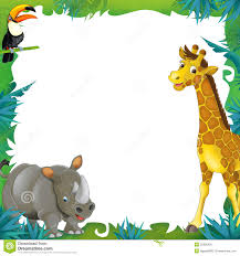 jungle animals border clipart. Brilliant Animals With Jungle Animals Border Clipart G