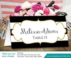 25 best printable wedding place cards ideas on pinterest diy Printable Wedding Place Card Template diy printable wedding place card template instant download editable text black & white stripes, gold frame 3,5\