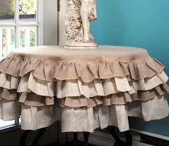 burlap tablecloth used