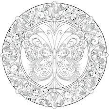 Mandala Coloring Pages Free Mandalas Printable Animal Hard Ng