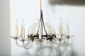 european marie therese style hand blown transpa crystal candlestick chandelier featuring a single tier